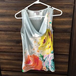 Anthropologie Hype silk watercolor blouse